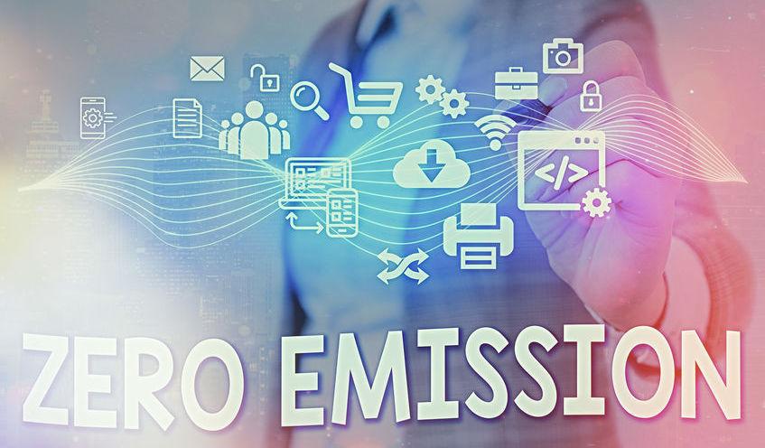 Writing note showing Zero Emission